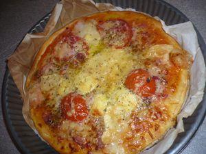Pizza très rapide avec pâte toute prête du Lidl :