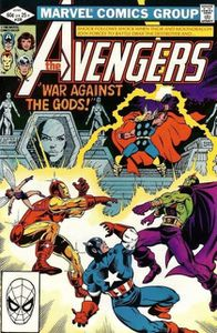 Avengers, volume 1, n°229, war against the gods (Jim Shooter, Bob Hall)