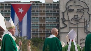 BBC - Pope celebrate open-air Mass in Cuba