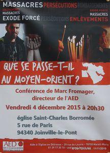 Joinville-le-Pont: Quel avenir pour les chrétiens d'orient ? Une conférence vendredi soir en l'Eglise Saint-Charles.