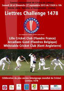 Liettres Challenge 1478 - 26 &amp&#x3B; 27 Septembre 2015