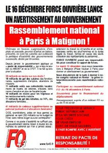 Rassemblement National FO en direction de Matignon