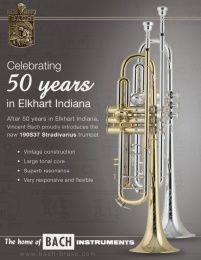 La nouvelle Trompette Sib modèle 50e Anniversaire de Bach Stradivarius