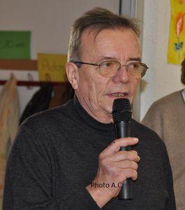 Pierre Peter, président  des Amis de Saint-Pierre