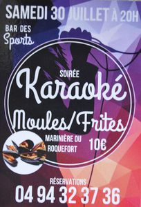 "Karaoké au bar ""Les Sports"""