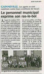 Action intersyndicale à Gainneville