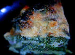 Lasagnes épinards, bleu et jambon