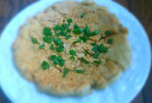 Galette de farine de pois chiches aux graines de fenouil