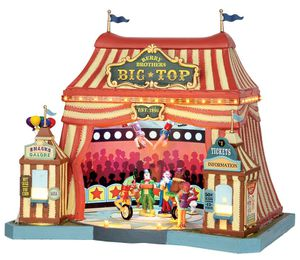 Le cirque Big Top, un manège musical miniature Lemax