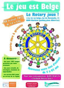 LE ROTARY JOUE, 100% BELGE - Dimanche 8/02 à Charleroi (de 14 à 22h)