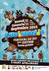 LUDIMANIA 2015 - Les 12 et 13/09 à Saint-Apollinaire (Espace Tabourot des Accords)