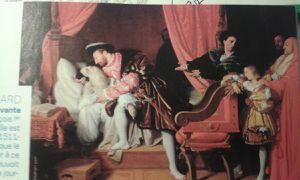 Léonard de Vinci mourant dans les bras de François I au château du Clos-Lucé à Amboise en 1519