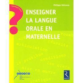 La maîtrise de la langue en maternelle