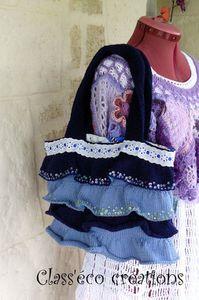 sac réalisé en tricot, au point jersey