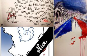 dessins d'artistes attentat Nice source JDD