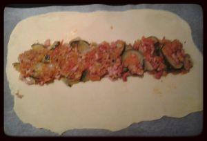 Feuilletée courgette, tomates, mozzarella au thermomix