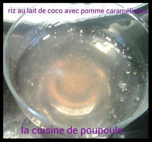 Riz au lait de coco avec pommes caramélisées au thermomix