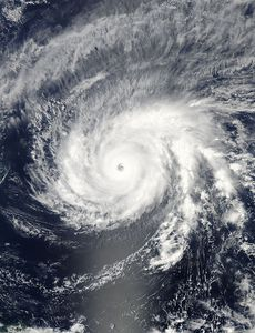 Super Typhoon Maysak am 31. März um 3:55 UTC. Quelle: NASA Goddard MODIS Rapid Response Team
