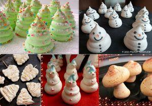 Recettes des meringues de Noël