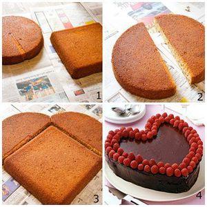 Astuces faire des gâteaux en forme de coeur