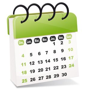 calendrier 2014-2015 modifiable chez Natalys zone B