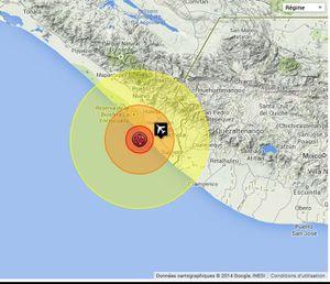 Tremblement de Terre M 7 - 2km NNE of Puerto Madero, Mexico 2014-07-07 11:23:55 UTC
