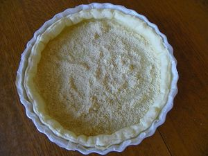 TARTE AUX QUETCHES ET SON CRUMBLE (thermomix)