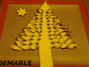 SAPIN FEUILLETE A LA PATE A TARTINER (thermomix)
