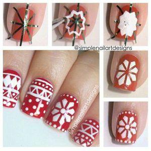 Nail art hiver, nail art noel, nail art fleurs des neiges, nail art pas à pas