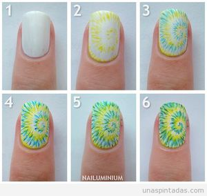 Tutoriel nail art hippie, peace and love