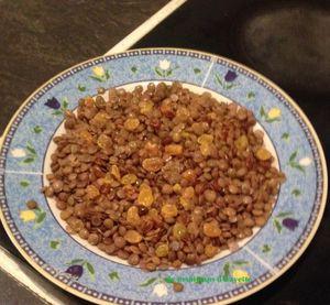 recette de salade lentilles aux raisins secs facile