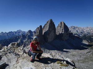 Grimpe dans les Dolomites ... mythiques et aériennes