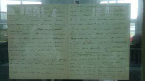 Des manuscrits écrits de la main de Pierre