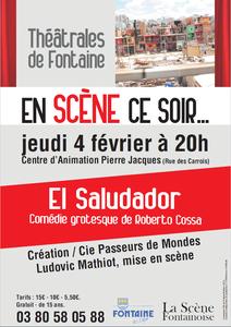 Jeudi 4 février, soirée théâtre avec El Saludador