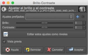 Brillo y Contraste con GIMP (I)