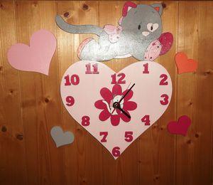 Horloge murale en bois Iris des noukie's