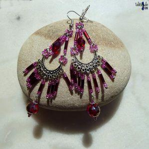 FraiBoise - Longues boucles d'oreille frangées de style oriental