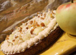 Sablé Breton à la noix, chantilly caramel et pomme façon Fantastik de Michalak