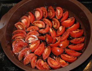 Gâteau renversé tomates et thon