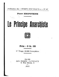 ★ Le Principe Anarchiste