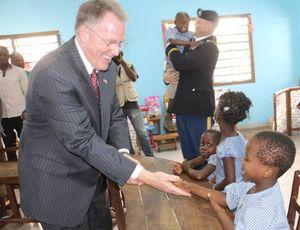 Inauguration du Jardin d'Enfant de l'Ecole Ephphata pour les sourds de Lomé