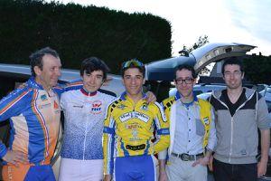 Michel GOUPIL, Maxime MURICE, Enzo CUELHO, Arnaud BIZIEUX et Nicolas Vaucouleur LEVEQUE (Photographe de Vélostar Actus)
