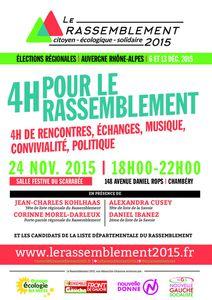4h pour le rassemblement mardi à Chambéry