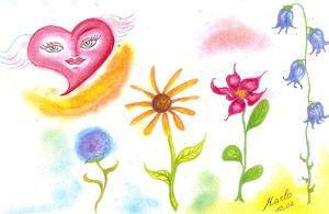 Coeur volage, un de mes pastels