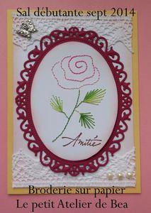 modèle rose brodée