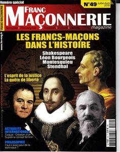« Franc-maçonnerie Magazine », n°49 (juillet-août 2016), les marronniers fleurissent en été