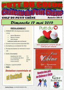 Rappel, dimanche 17 mai, Putts du coeur &amp&#x3B; Château du Petit Chêne
