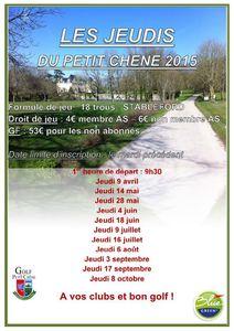 Relance, Jeudis du Petit Chêne le 28 mai