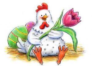.. Pâques .. &quot&#x3B; Poule avec filtre a café &quot&#x3B;