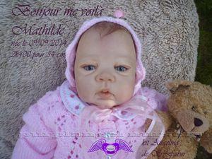 Un nouvel ange est né : Mathilde (adoptée)